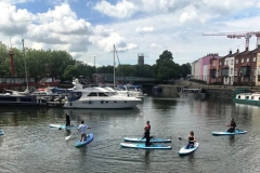 Paddleboarders in the basin - May 2019