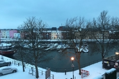 Snowy view across the basin from the Iron Foundry - Mar 2018